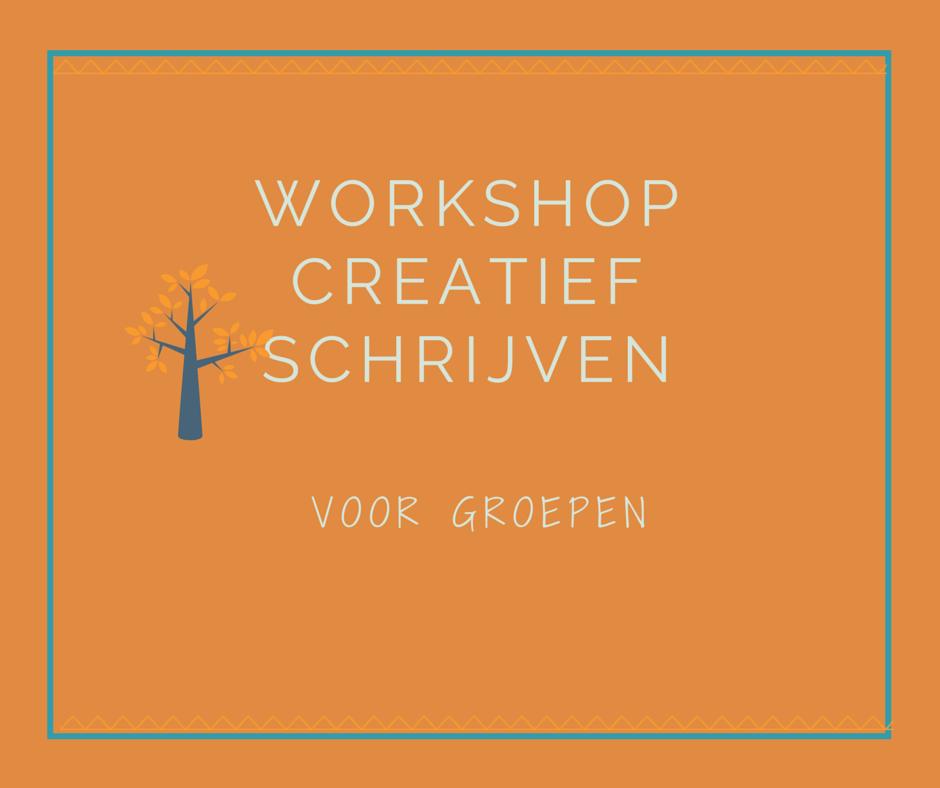 workshop creatief schrijven groepen utrecht
