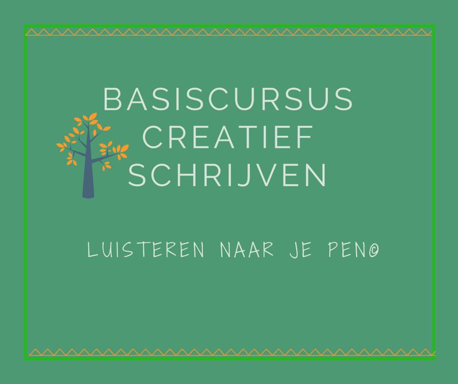 Basiscursus creatief schrijven luisteren naar je pen Utrecht